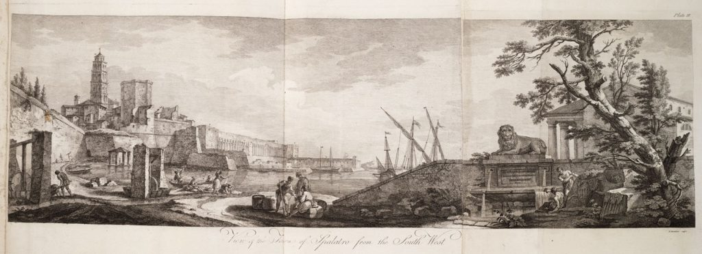 Robert Adam, Ruins of the palace of the Emperor Diocletian at Spalatro in Dalmatia (1764); Plate IV. View of the town of Spalatro from the south west
