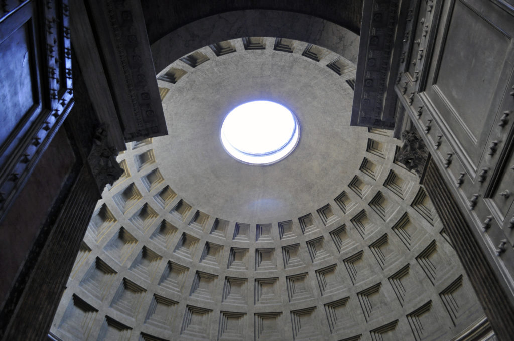 The dome of the Pantheon, detail (photo: I.R.S.)