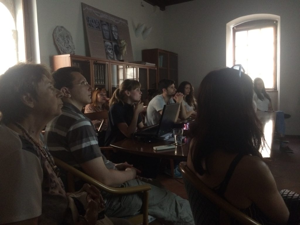 During the lecture by Iva Raič Stojanović at the study room of Institute of Art History - Cvito Fisković Centre.